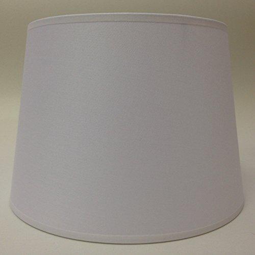 25,4 cm Empire Abat-jour Tissu de coton Blanc lumière Abat-jour Table fait à la main.