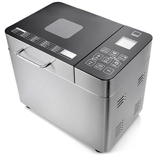 Sänger Brotbackautomat Premium aus Edelstahl | 22 Backprogramme voreingestellt, sowie Timer, Warmhalte- und Knetfunktion | Für 3 Brotgrößen 500, 750 und 1000 Gramm | 3 Bräunungsgrade auswählbar | Mit Touch Display