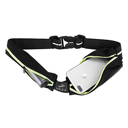HiHiLL Laufgürtel für Handy, Wasserdicht Hüfttasche Sport Jogginggürtel Taille Tasche mit Reflektierendem Streifen, Verstellbar Erweiterbar für iPhone X / 8/8 Plus / 7/7 Plus