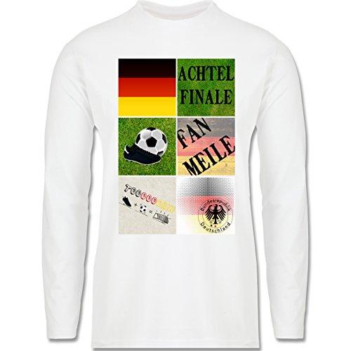 EM 2016 - Frankreich - Deutschland Achtelfinale Fan Shirt - Longsleeve / langärmeliges T-Shirt für Herren Weiß