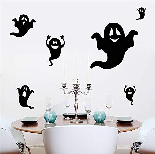 Wuyyii Diy Halloween Wandsticker Dekoration Halloween Black Ghost Wandaufkleber Fenster Wandaufkleber Wohnzimmer Halloween Decor
