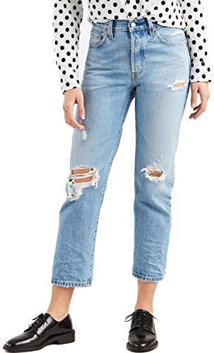 Levi's Levis 36200 501 Crop Jeans Damen Denim Light Blue 28 -