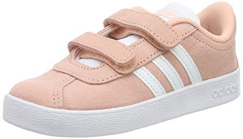 adidas Unisex Baby VL Court 2.0 CMF Sneaker, Glow Pink/Footwear White/Grey 0, 27 EU -