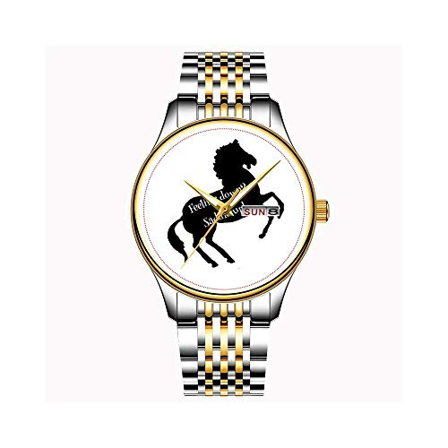 Uhren Herrenmode Japanisches Quarz Datum Edelstahl Armband Gold Uhr Sable Papillon Halloween Hund Armbanduhren