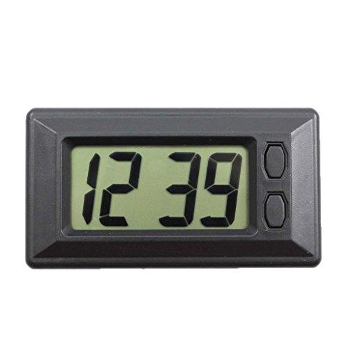 D DOLITY Autos-LCD-Uhr klassischen Digitaluhr mit Klebepad, Zeit und Datum Anzeige Uhr