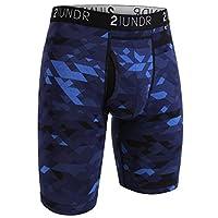 "2UNDR Mens Swing Shift 9"" Boxer Long Leg Underwear (Geode, Medium)"