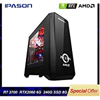 Desktop computer game P88 AMD 8-core R7 2700 / RTX2060 6G / 8G DDR4 / 240G SSD water-cooled assembly computer gaming PC
