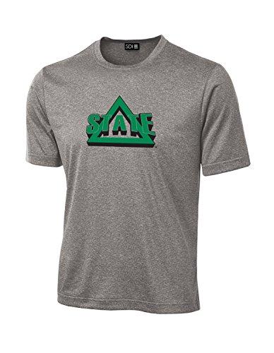 NCAA Delta State Staatsmänner Schule Standard Maskottchen Tech Performance T-Shirt, X-Large, Sport Grey