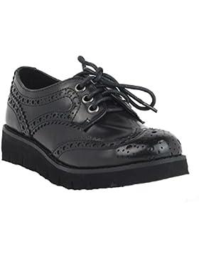 Zapato niña cordones cuña 53960 xti color negro (36)