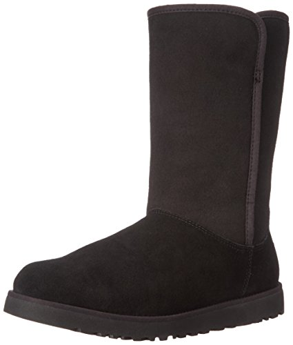 ugg-australia-womens-michelle-womens-black-leather-boots-in-size-37-black