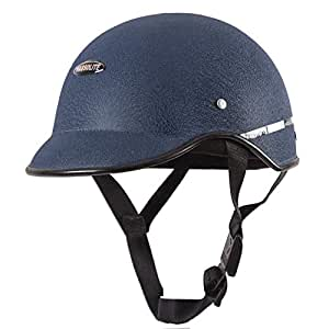 Habsolite HB-MWB2 Mini Wrinkle All Purpose Safety Helmet with Quick Release Strap for Men & Women (Blue, Free Size)