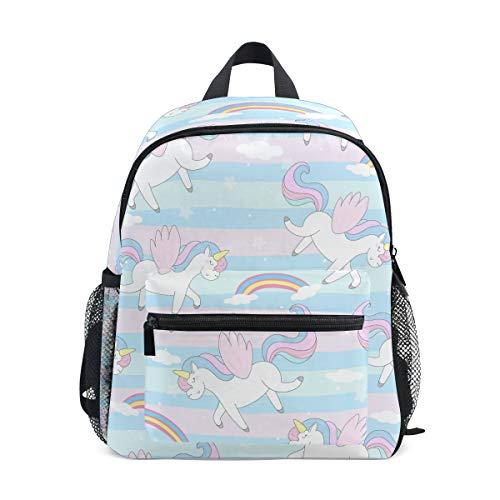Bali süßes handgezeichnetes Einhorn-Rucksack für Kleinkinder, Büchertasche, Schulrucksack für Mädchen und Jungen
