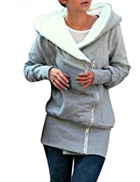 Miusol® Damen Jacke Herbst Winter Mantel Hooded Kapuzen Pullover Sweats 34-50