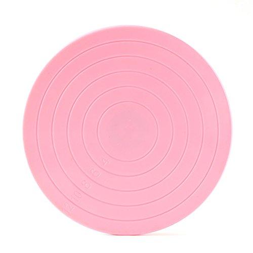 BESTOMZ 5.5 pulgadas Soporte giratorio para pastel - Plato Giratorio para Tartas (Rosa)