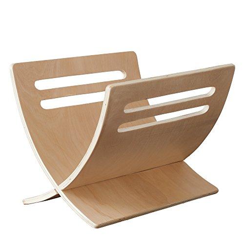Homestyle4u 966, Zeitungsständer Modern, Natur, Holz, 30 x 29 x 36 cm -