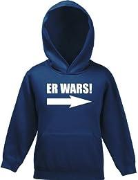 Shirtstreet24, ER WARS! Kinder Kids Kapuzen Sweatshirt Hoodie - Pullover