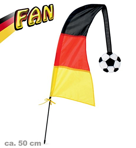 Kostüm Spieler Fußball (Windfahne FAN ca. 50 cm Deutschland Fußball WM EM Fanartikel Deutschland)