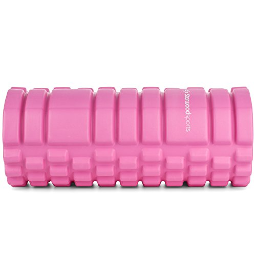Foam Roller for Deep Tissue Muscle Massage – Trigger Point Therapy – Myofascial Release – Muscle Roller for Fitness, CrossFit, Yoga & Pilates (Pink with Black Core)