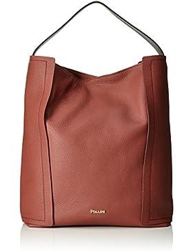 Pollini Damen Bag Tote, Rot (Ruggine), 43x14x39 cm