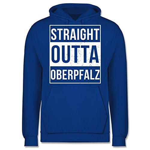 Oberpfalz Männer - Straight Outta Oberpfalz Weiss - JH001 Herren Kapuzen Pullover Royalblau
