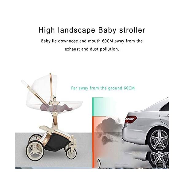 Baby Stroller, High Landscape for Sitting and Reclining Baby Doll Stroller, Shock Absorption and Light Baby Trend Jogging Stroller for Baby Infant Newborn Baby (Color : White) AEQ ●BABY ALIVE STROLLER TWO-WAY IMPLEMENTATION:enhance baby comfort baby stroller fan, check the baby at any time, family is more assured. ●EXQUISITE CRAFTSMANSHIP, STREAMLINED FRAME: for baby stroller adopts bionic principle, combined with physical triangle mechanics, support design, frame is stable and durable, easy to collect, smooth cart, tube width is over 5cm, less punching, baby pram stroller is more integrated Forming is stable. ●ENJOY THE SUN WITHOUT SUNBURN: Baby strollers are made of natural natural fabric and bottom PT film. They have excellent rebound and stretchability, and they can maintain a smooth and beautiful appearance after many times of folding. With authoritative certification, it can isolate more than 95% of ultraviolet rays, meet the travel needs of the baby in different time periods, and resist the sun glare. Baby stroller toy protects the baby's delicate skin. 5
