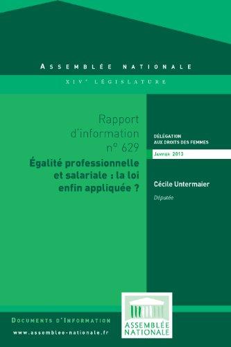 Couverture du livre Rapport d'information sur l'application du dispositif relatif à la mise en oeuvre des obligations des entreprises pour l'égalité professionnelle