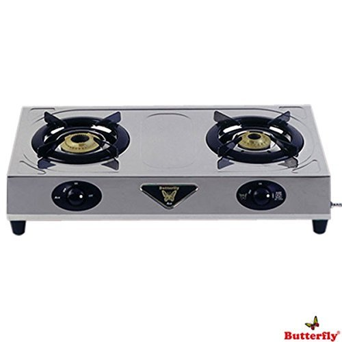 Butterfly Stainless Steel Ace 2 Burner Gas Stove, 3-inch