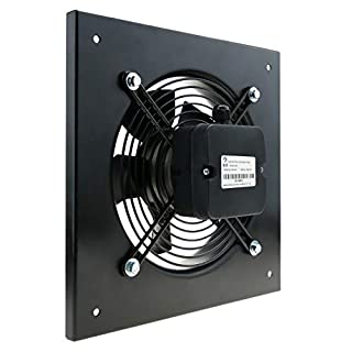 PrimeMatik KH001-VCES 200 mm Wall Air Extractor for Industrial Ventilation 2550 RPM Square 310 x 310 x 48 mm (KH001)