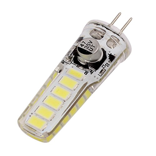 sourcing map AC/DC12V-24V 3W G4 5730SMD LED Ampoule maïs 12-LED blanc réglable silicone