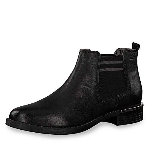 s.Oliver Damen 5-5-25335-33 001 Chelsea Boots, Schwarz (Black, 40 EU