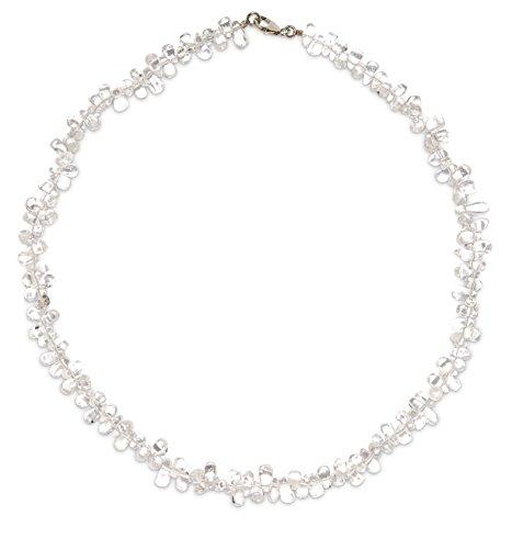 Bergkristall Schmuck (Halskette) Bergkristall Kette Tropfen Verschluss 925er Sterling-Silber Modellnummer 203A