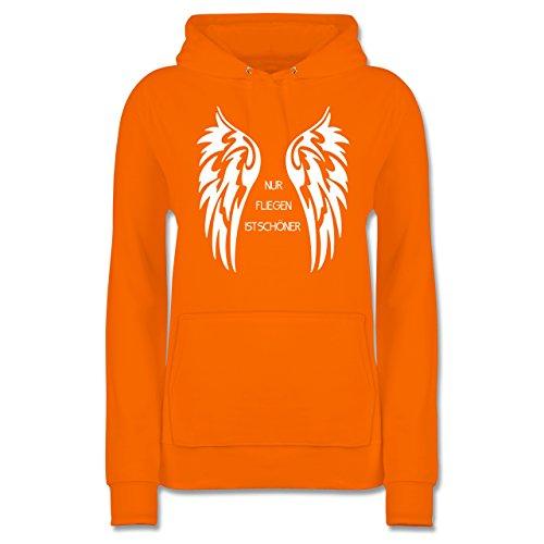 Motorräder - Nur fliegen ist schöner Flügel - Damen Hoodie Orange