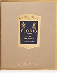 FLORIS LONDON Savons Rose Geranium, 3 X 100 g