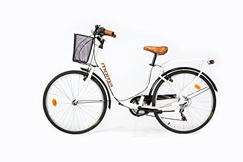 Negro Cambio Shimano TZ-50 18 vel. Aluminio Moma Bikes City Classic 26-  Bicicleta Paseo