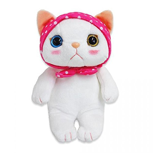 Choo Choo Cat Plush Doll with Pink Head Kerchief (M / White)