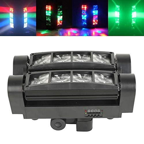 Lixada Spider Spot Moving Head LED DJ-Beleuchtung RGBW 8 x 3 W DMX 512 Dual Sweeper-Impuls-Strobe-Effekt für Restaurant-Live-Konzert-Beleuchtung KTV Bar Disco-Projektor Dual Strobe