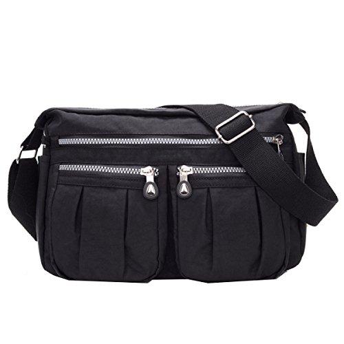 Yy.f Nylon Handtaschen Oxford Tuch Leinwand Frau Beutel Kurierbeutel Beiläufige Beutel Die Neue Tasche Affen. Multicolor Black