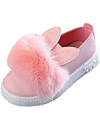 Niños Conejo Orejas Forma Zapatos Niña Bebés Niño Linda Ocio Zapatos De Suela Blanda Color Sólido Princesa Zapatos Peluda Cuero Sintética Zapatillas De Deporte