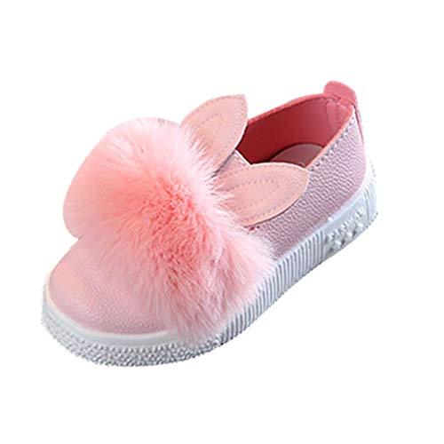 Niedliche Mädchen Kaninchen Ohr Bootsschuhe Baby Kleinkind Freizeit Soft-Sole Schuhe Einfarbig Einzelne Schuhe Kinder Erste-Walking-Schuhe Pelzigen Prinzessin Flache Schuhe Kunstleder Sneaker