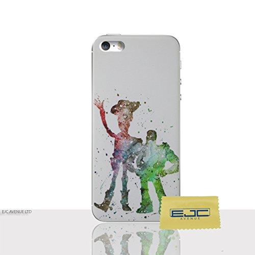 Fan Art Telefon Hülle/Case Gel TPU Abdeckung für iPhone 5 / 5s / SE mit Display Schutz / EJC Avenue / Toy Story (Iphone Toy Story Case 5s)
