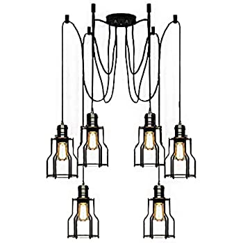 Brilliant Lixada 6 Arms Each With 1 7M Wire Antique Classic Edison Lamp Shade Wiring Cloud Hisonuggs Outletorg