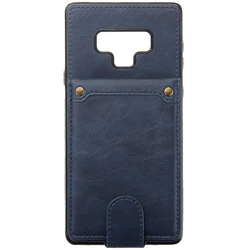 BisLinks®® Für Samsung Galaxy Note 9 Back Wallet Fall Cover Fitted PU Leder Classic Stil Magnetisch Flip Protection Shockproof - Blue -