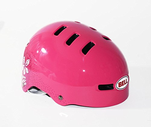 BELL Kinder Fahrradhelm FRACTION 10, Pink Flowers, S (51-55cm), 210028004