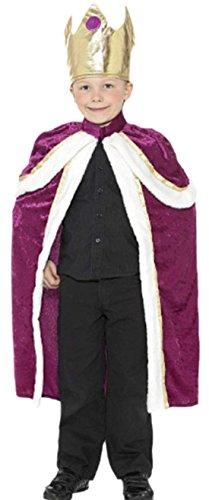erdbeerloft - Jungen Kids König Royal Karneval Faschingskostüm , 152, Mehrfarbig