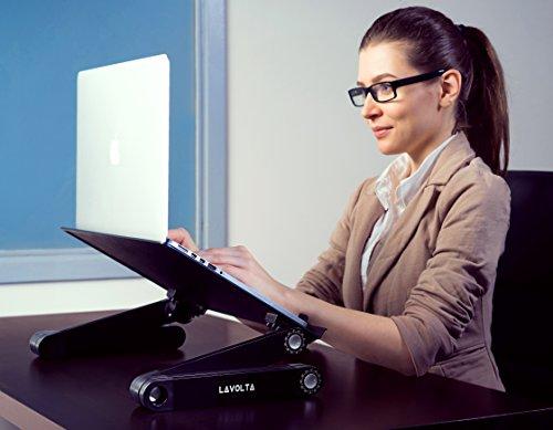 Lavolta Ergonomischer Laptop-Ständer/Frühstückstablett/Buchständer, Schwarz - 3