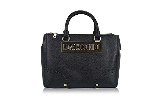 Love Moschino Top Handle Handbags Saffiano Black