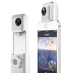 hardwrk Insta360 Nano Edition inkl. Halterung für Stativ oder Selfie Stick - 360 Grad Kamera für iPhone - Full HD - Apple MFi Zertifiziert