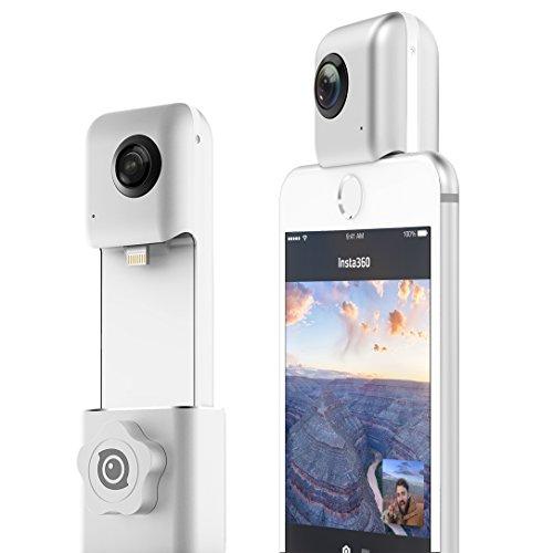 Insta360 Nano hardwrk Edition mit Halterung für Stativ oder Selfie Stick - 360 Grad Kamera für iPhone