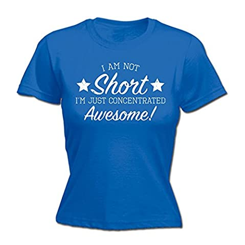 123t Women's I Am Not Short I'm Just Concentrated Awesome Funny T Shirt Joke Top Sarcasm Tee Humour Small Petite Tall Large Birthday Gift Christmas Present FITTED