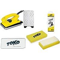 Toko-Set de cera con 4 piezas para esquís, con plancha para cera, apto para esquí alpino, nórdico y snowboard